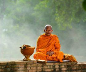 Thai monk Stock Photo