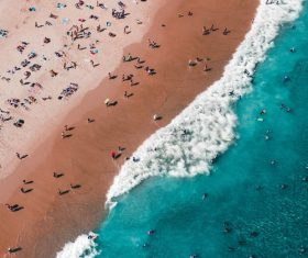 The birds-eye view beach landscape photography Stock Photo
