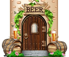 The door to the pub vector material 01