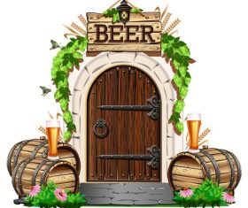 The door to the pub vector material 02