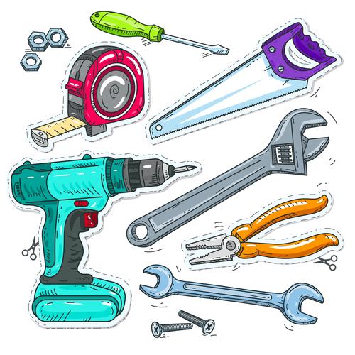 Tool hand drawn vector