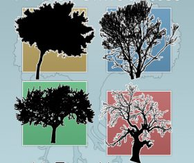 Tree Silhouette Photoshop Brushes