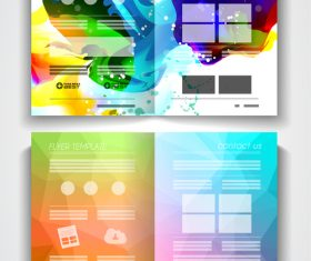 Tri Fold Super Flyer With Brochure Template vector 05