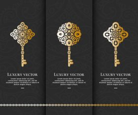 Tri-fold invitation card template luxury vector 02
