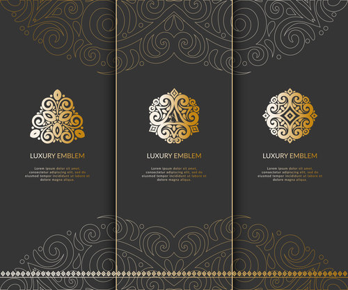 tri fold invitation card template luxury vector 05 free download