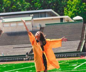 University girl graduation photo Stock Photo