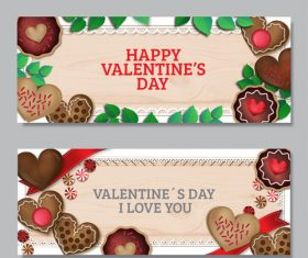 Valentines day chocolate banner vector