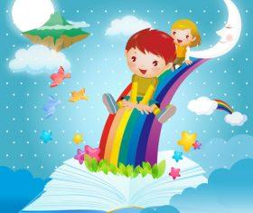 Vector children book illustration