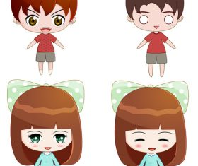 Vector cute cartoon character design