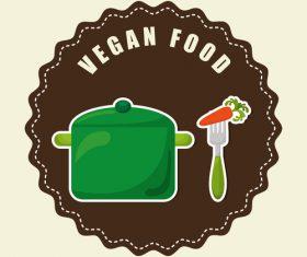Vegan food labels vectors 01