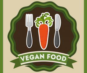Vegan food labels vectors 02