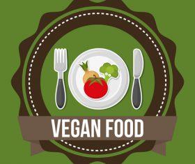 Vegan food labels vectors 03