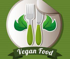 Vegan food labels vectors 04