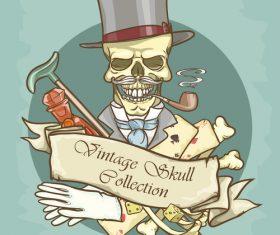 Vintage skull template design vector 10