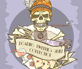 Vintage skull template design vector 11