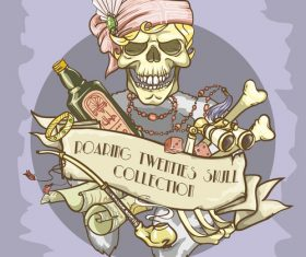 Vintage skull template design vector 13