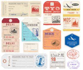 Vintage ticket template vectors 01