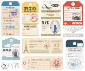 Vintage ticket template vectors 02