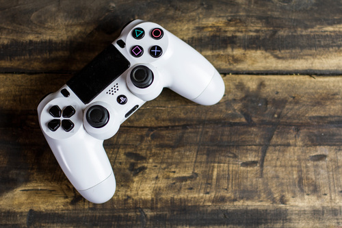 White ps4 controller Stock Photo