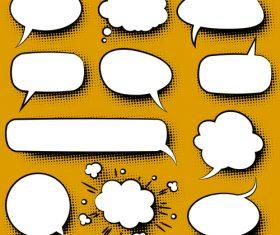 White speech bubble blank vector 02