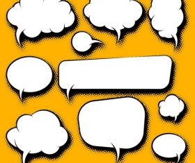 White speech bubble blank vector 03