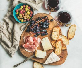 Wine and snack Stock Photo 02