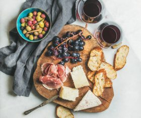 Wine and snack Stock Photo 04