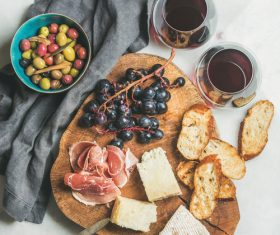 Wine and snack Stock Photo 06
