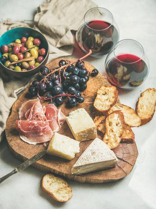 Wine and snack Stock Photo 07
