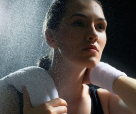 Woman close-up Stock Photo
