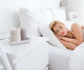 Woman taking a nap Stock Photo 03