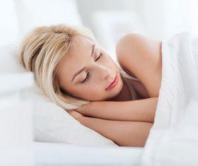 Woman taking a nap Stock Photo 04