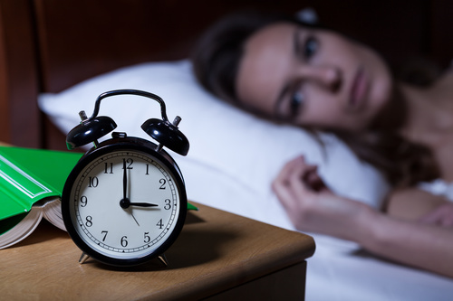 Woman who is insomnia at night Stock Photo 03