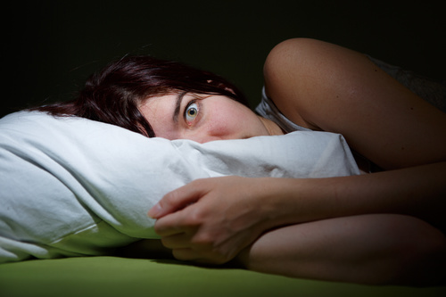 Woman who is insomnia at night Stock Photo 07