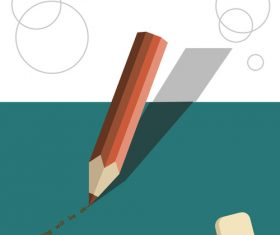 Writing pencil vector