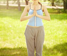 Yoga beauty Stock Photo