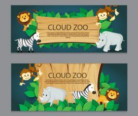 Zoo wooden sign vector