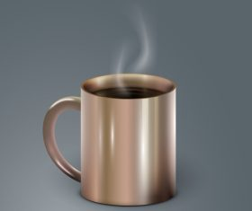 brown cofee cup illustration vector