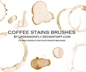 coffee stains Photoshop brushes