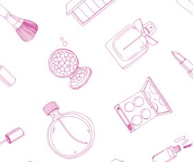 cosmetics seamless pattern vectors 03