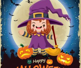 halloween poster template design vectors 05