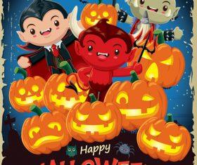halloween poster template design vectors 06