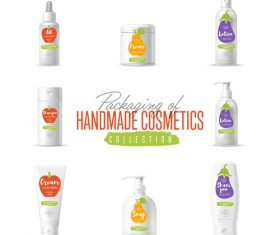 handmade cosmetics packaging design vector 01
