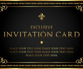 Luxury vector for free download luxury black and gold invitation card vectors 07 stopboris Choice Image