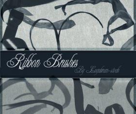 ribbon retro photoshop brushes