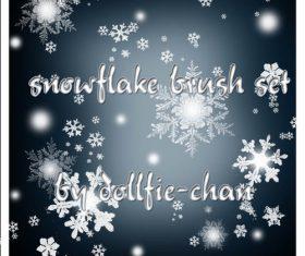 snowflake photoshop brushes set