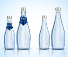 sparkling water bottle backage vector