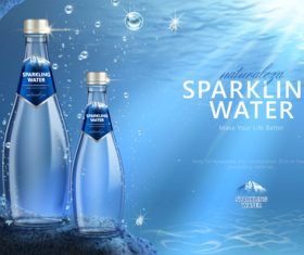 sparkling water poster design vector 02