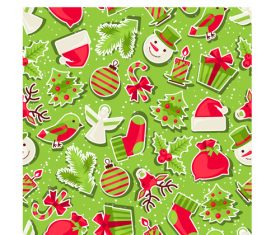 2018 christmas seamless pattern design vectors set 06