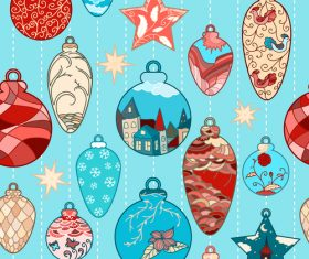 2018 christmas seamless pattern design vectors set 07